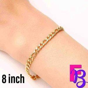 "8"" 14k Italian Figaro Bracelet"
